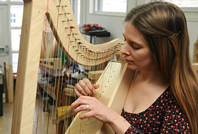 Morwenna Playing Harp